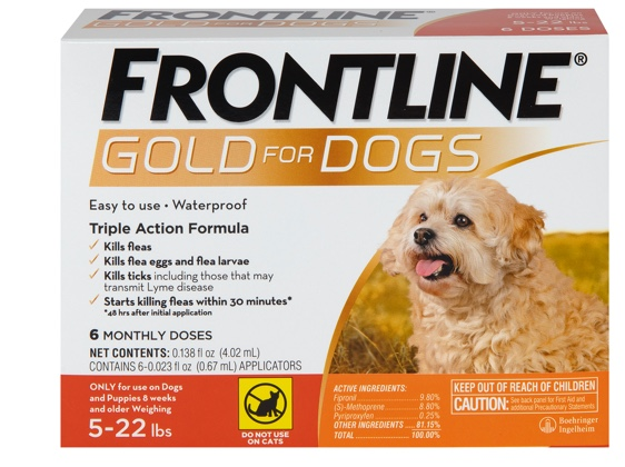 package of Gold for small dog, showing brown dog 5 to 22 pounds
